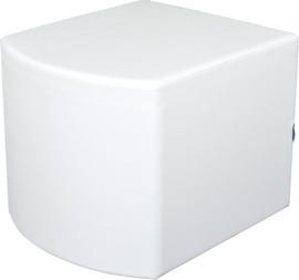 Bolle witte poef zithoogte 54 cm