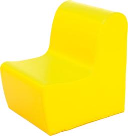 Hoge zitbank 45cm zithoogte 34cm - Geel
