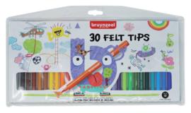 Viltstift Bruynzeel Kids - mapje 30 stuks assorti
