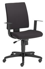 INTRATA bureaustoel met lage rugleuning zwart - zwart