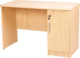 Vigo-bureau met afgeronde randen, met kast  esdoorn