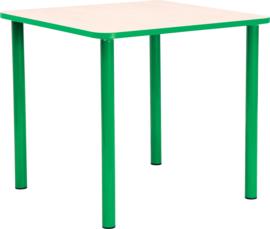 Vierkante Quint-tafel 65 x 65 cm met groene rand 40-58cm