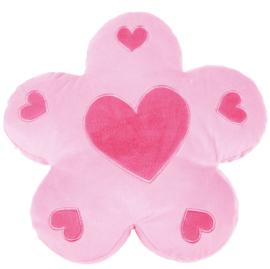 Kussen FLAT - roze bloem