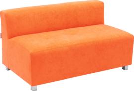 Flexi brede bank, zithoogte 35 cm, oranje