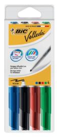 Viltstift Bic 1744 whiteboard rond ass 1.4mm blister à 4st