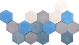 Geluiddempende zeshoeken, set 3