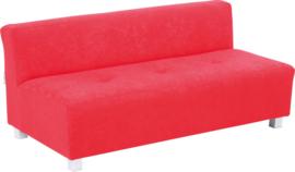 Flexi brede bank, zithoogte 25 cm, rood