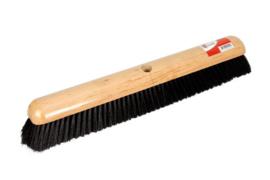 Zaalbezem hout 50cm zwart gat Ø23.5mm