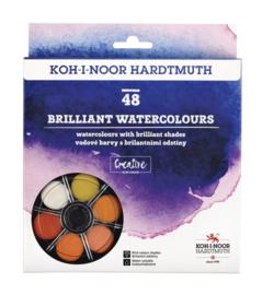 Waterverf Koh-i-Noor briljant 48 kleuren