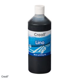 Creall lino/blockprint verf zwart