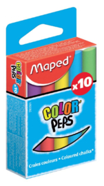 Bordkrijt Maped Color'Peps assorti stofvrij 10 stuks