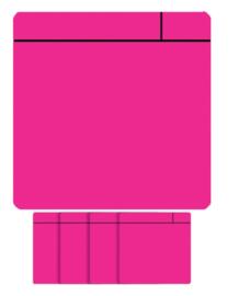 5x Magneet scrum 75x75mm roze