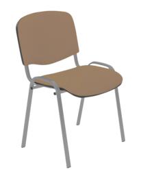 Vergaderstoel Yaro alu frame, beige/bruine stof