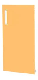 Deur voor smalle kast Flexi en kast M met scheidingswand rechts - oranje