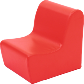 Lage bank zithoogte 20cm - rood