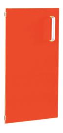 Deur voor smalle kast Flexi en kast M met scheidingswand links - rood