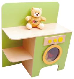 Wasmachine met planken - Groen