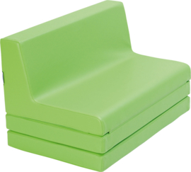 Vouwbare bank afm. 48 x 80 x 49 cm - Groen