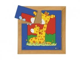 Puzzel giraf moeder/kind 6 dlg.
