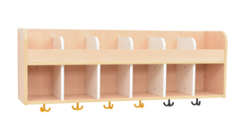 Quadro garderobe plank 6, esdoorn