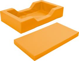 Schuimbed met uitsparingen - oranje