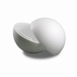 Tempex bal 5 stuks 150mm tweedelig/hol - Wit