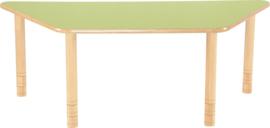 Trapezium Flexi tafel 150,5x80x80cm groen 58-76cm hoogte verstelbaar