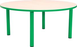 Ronde Quint-tafel 90 cm met groene rand 40-58cm