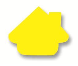 Plakfiguur - Huisje 400st assorti