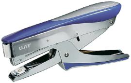 Niettang Leitz 5548 blauw/metaal 24/6 25 vel