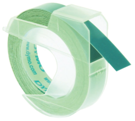 10 stuks Labeltape Dymo rol 9mmx3M glossy vinyl prof groen