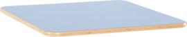 Vierkant Flexi tafelblad 80x80cm blauw los
