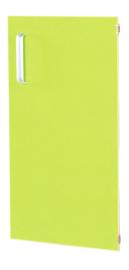 Deur voor smalle kast Flexi en kast M met scheidingswand rechts - groen