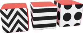 Contrast kubussen set van 3 15x15x15cm