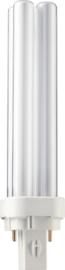 Spaarlamp Philips Master PL-C 2P 18W 1200 Lumen 830 warm wit