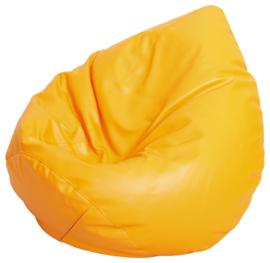 Kleine zitzak poef - peer oranje