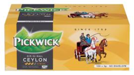 Thee Pickwick Ceylon 100 zakjes van 2gr zonder envelop