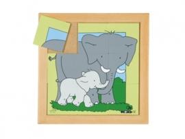 Puzzel olifant moeder/kind 9 dlg.