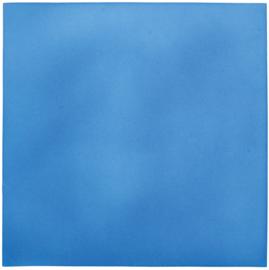 Geluiddempend vierkant - babyblauw, 20 mm