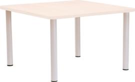 Vierkante Quint-tafel 65 x 65 cm met  esdoornrand  40-58cm
