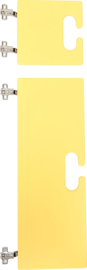 Kleine en grote deur voor kameleon garderobe - geel