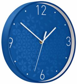 Wandklok Leitz WOW Ø29cm blauw