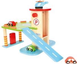 Garage met voertuigen
