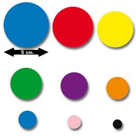 Set plakfiguren cirkels 11 div. maten
