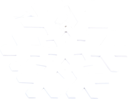 Papieren slinger - sneeuwvlokken