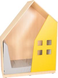 Quadro huiskast 130x60x173,5cm - Esdoorn/wit