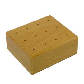 Prikpennenblok hout voor 12 prikpennen
