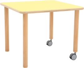 Tafelblad Flexi vierkant - geel,