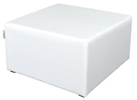 Vierkante witte poef zithoogte 34 cm