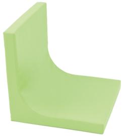 Matras met rugleuning Afm. 60 x 60 x 7 cm - Groen